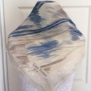 Louis Feraud Retro Abstract Silk Chiffon Scarf